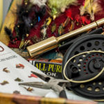 Assorted fly fishing items
